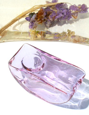 Half Circle Pipe in Lilac Glass