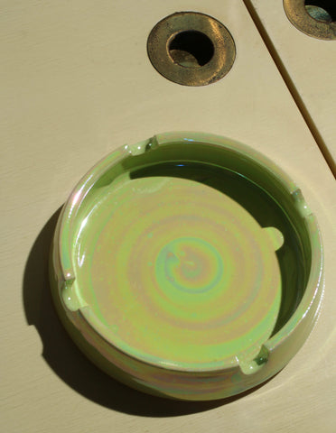 Castle Ashtray in Iridescent Leaf