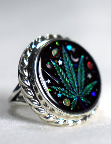 Cannabis Galaxy Ring