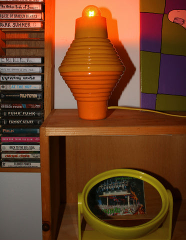 Orange Step Up Lamp