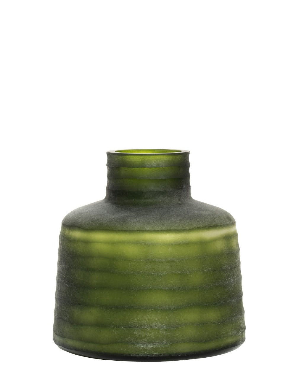 Jade Storms II Frosted Olive Green Vases