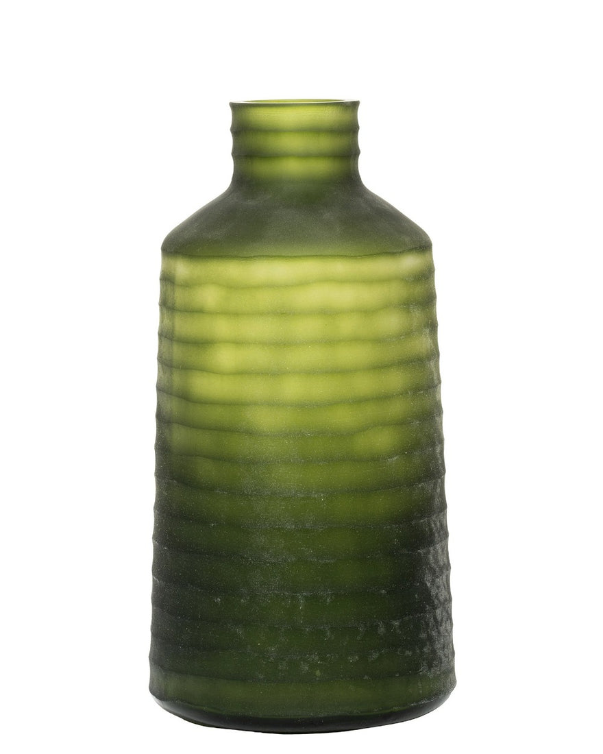Jade Storms Frosted Olive Green Vases
