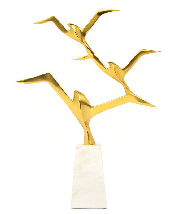 Jean Butterfield Gold & Marble Base Sculpture
