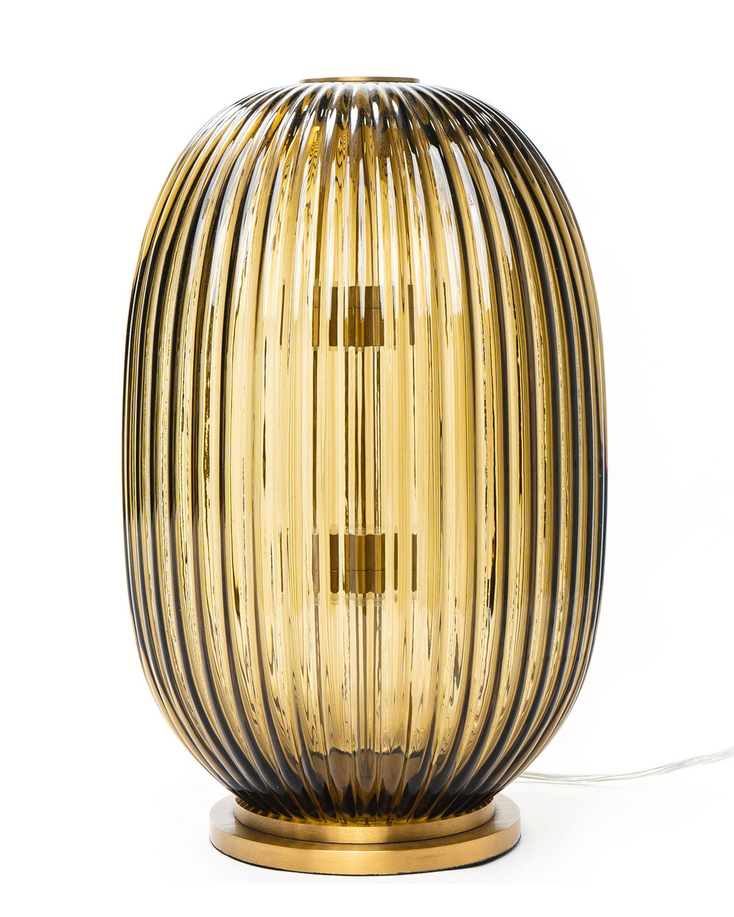George Flavin Hand-Blown Decorative Lamp