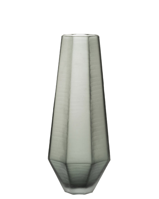Andy Storms Decorated Frosted Gray Vase
