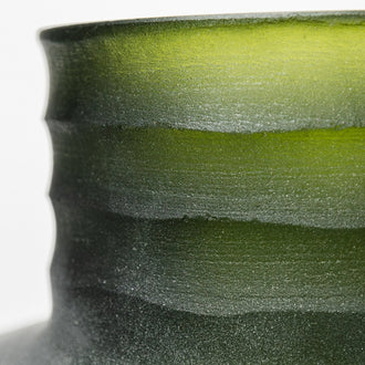 Load image into Gallery viewer, Jade Storms Frosted Olive Green Vases
