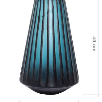 Load image into Gallery viewer, Vincent Storms Ribbed Frosted Glass Vase