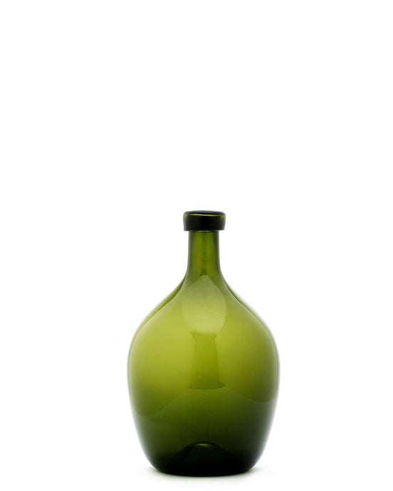 Lara Storms II Hand-Blown Emerald Vase