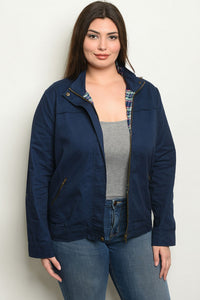 Navy Zip Up Jacket