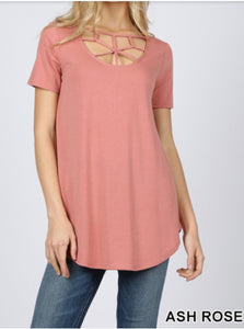 Web Neck Detailed Shirt