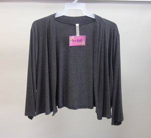 Charcoal Half Sweater