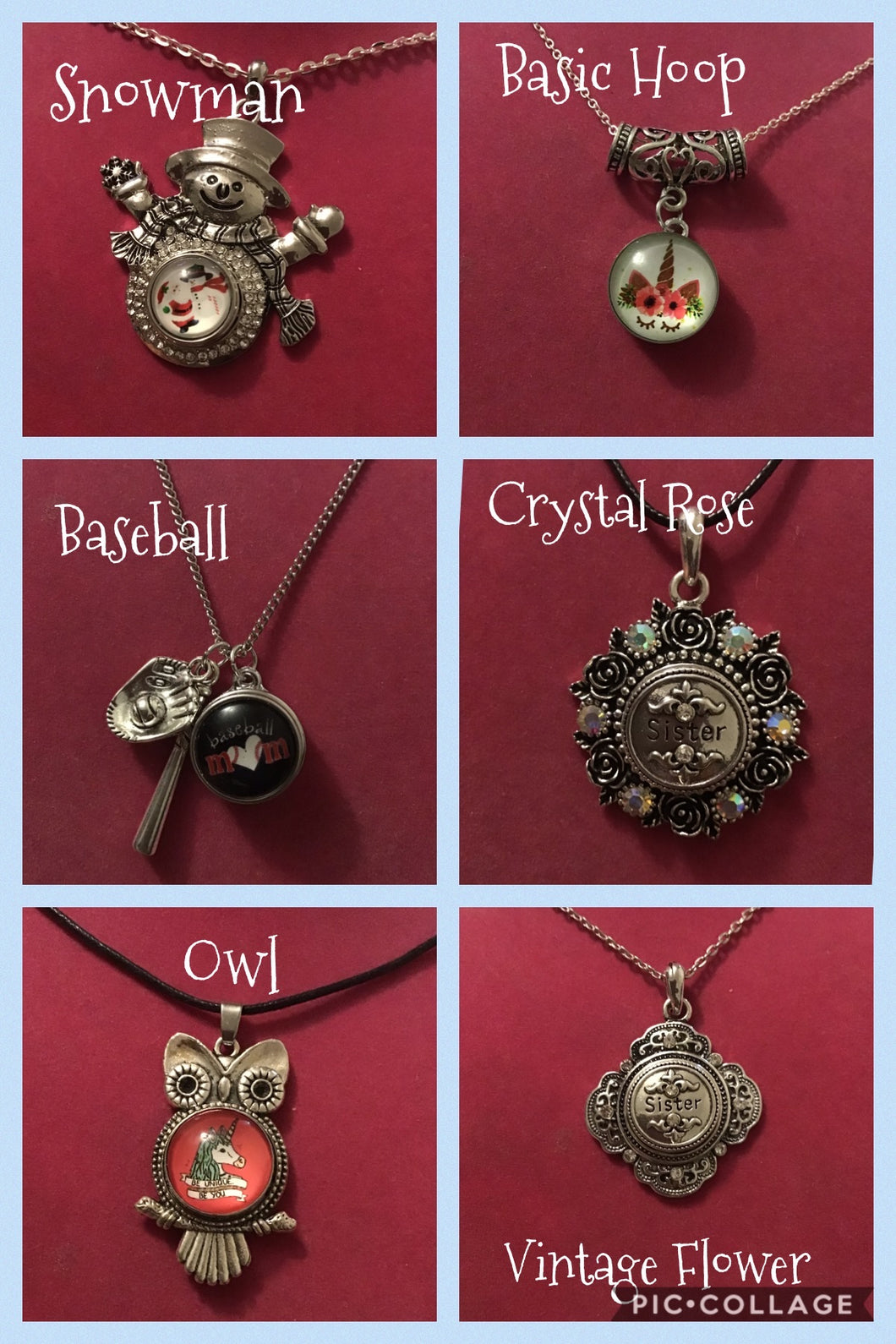 Snap Button Necklaces