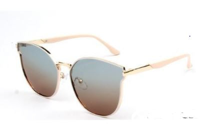 Pink Rounded Cat Eye Polarized Sunglasses