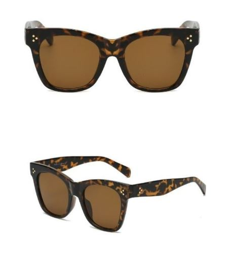 Thick Frame Tortoise Shell Brown Sunglasses