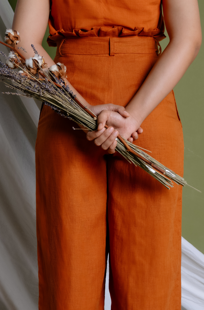 Johanna Wide Leg Pants - Rust - The Soleil Girl