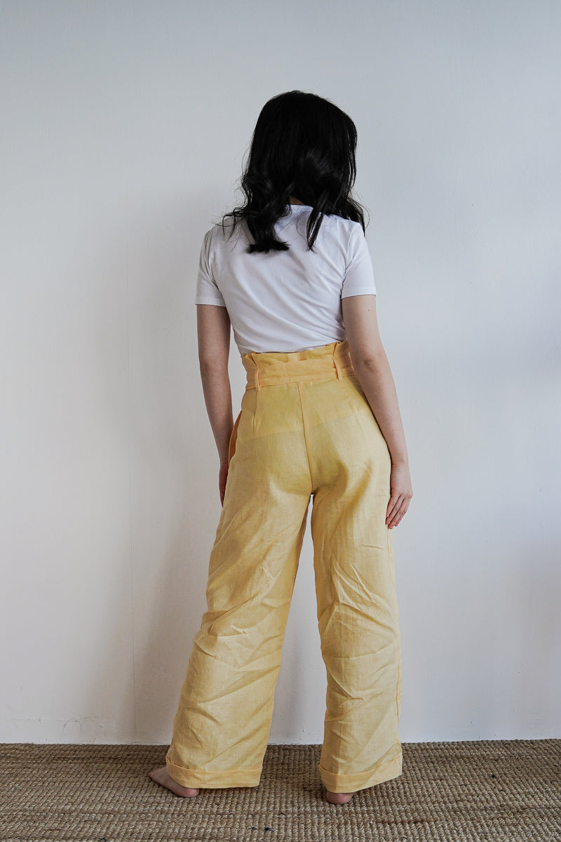 Johanna Pants 2.0 in Double Cream - The Soleil Girl