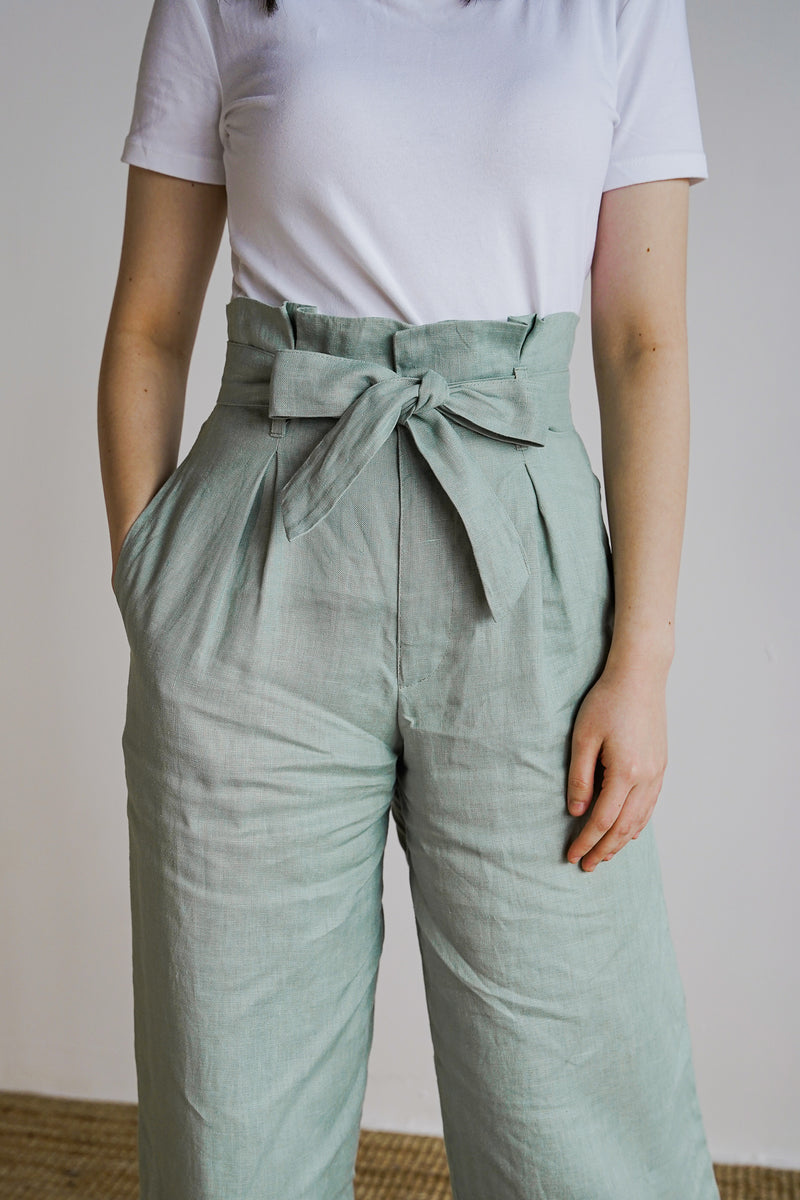 Johanna Pants 2.0 in Smoke Green - The Soleil Girl