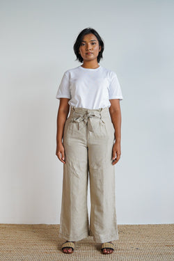 Johanna Pants 2.0 in Oatmeal - The Soleil Girl