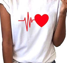 Load image into Gallery viewer, (HEART BEATS) woman T-shirt 100% cotton