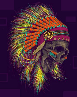 (APACHE SKULL) man, woman 100% cotton