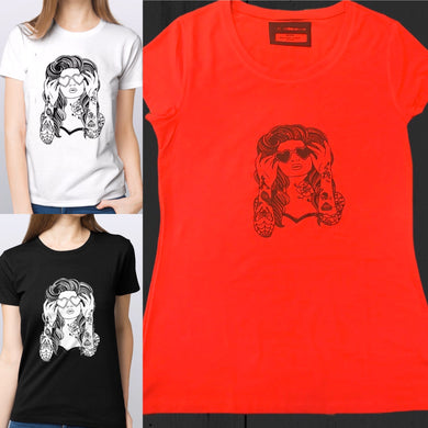 (WOMAN TATTOOS) woman T-shirt 100% cotton