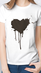 (MELTED HEART) Woman T-shirt 100% cotton