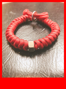 (NUT ROLLED) Outdoor Survival Bracelet Adjustable Emergency Paracord Bracelet Hand Knitting Survival Bracelet 550lbs Parachute Cord Bracelet