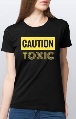 (Caution Toxic Lady)lady's T-shirts collection