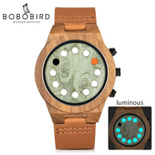 Load image into Gallery viewer, (WOOD WATCH LUMINOUS) 12 Holes Timer Design Sports Casual Watches Great Men's Gifts