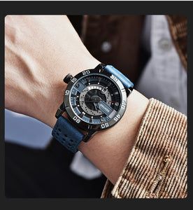 (STRAP  SQUARE WATCH)  Waterproof Reloj de hombre