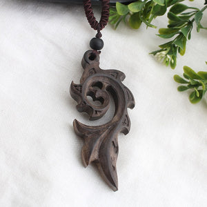 (SANDALWOOD PENDANT)Necklace Long Sweater Chain Adjustable Jewelry GiftSouvenir