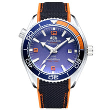 Load image into Gallery viewer, (JAMES BOND WATCH)  Orange Blue Red Rotatable Bezel Classic Watch