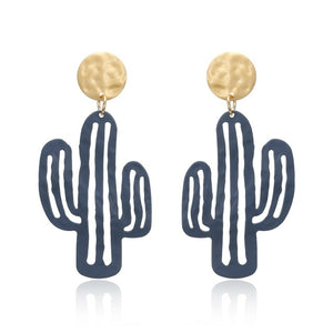 (CACTUS EARRINGS) Women Statement Big Hanging Earrings Long Dangle Cute Earrings Pendant Female Jewelry amazing price