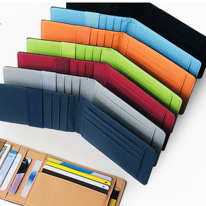 (CLASSY WALLET)  Wallets Small Unisex Credit Card Holder Men/Women Solid Ultra-Thin Money Cash Cards Purse 8 colors Leather Mini Wallets