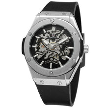 Load image into Gallery viewer, (MILITARY SPORT WATCH) Auto Mechanical Watch Men Rubber Strap Skeleton Mens Watches Top Brand Luxury HIP HOP Punk Clock