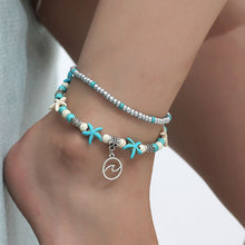 Load image into Gallery viewer, (EUROPEAN  ANKLET) Bracelet anklet beach wave starfish anklet handmade handmade anklet Holiday gift