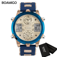 Load image into Gallery viewer, (QUARTZ LED)  Brand Men Sports Watches Men's Quartz LED Digital 3 Clock man Male Wrist Watch relogio masculino