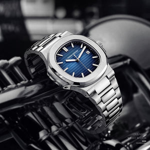 (TOP BRAND WATCH)  Mechanical Watch Automatic Fashion Luxury Stainless Steel Male Clock waterproof watch men
