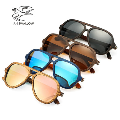 (LAYERED SUN GLASSES)  Skateboard Wooden Frame Square Style Glasses for Ladies Eyewear In Wood Box