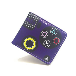 (PLAYSTATION WALLET) Credit Card Photo Boy and Girl Short Wallets