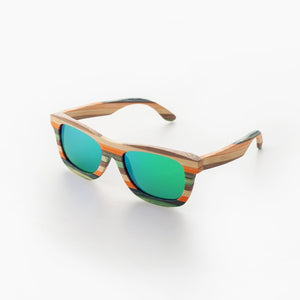 (MULTICOLOR WOODEN) Polarized sunglasses for women men Colorful Bamboo sun glasses Beach eyeglasses