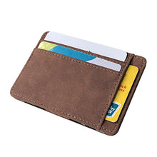 Load image into Gallery viewer, (ULTRA THIN WALLET) Small Wallet Business PU Leather Magic Wallets Band Solid Color Card Coin Purse Credit Bank Holder