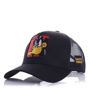 (ANIME CUTE CAP)  Embroidery Summer Mesh Men's Ms. Outdoor Sunshade Dad Truck Driver hats