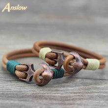 Load image into Gallery viewer, (CLASSIC ANCHOR) Charm Bracelet Leather Bangle Bracelets For Women Gift LOW0093LB