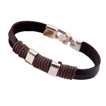 Load image into Gallery viewer, Leather Bracelets Unisex Bracelets  Cowhide Bracelets Wrist Chains