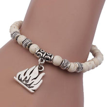 Load image into Gallery viewer, (White Tibet) Pendant Elastic Bracelet