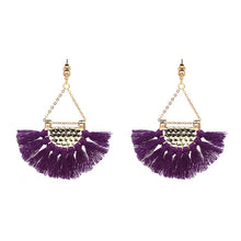 Load image into Gallery viewer, (FRINGES EARRINGS) Statement Jewelry Tassel Long Earring For Women Wedding Dangle Drop Earrings