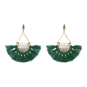 (FRINGES EARRINGS) Statement Jewelry Tassel Long Earring For Women Wedding Dangle Drop Earrings