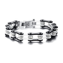 Load image into Gallery viewer, (Crystal Bikers Motorcycle) Chain Bracelet Crystal Stainless Steel