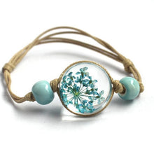 Load image into Gallery viewer, (GLASS BALL) Bracelet Jewwlry  Women Romantic Dry Flowers Bracelet & Bangle